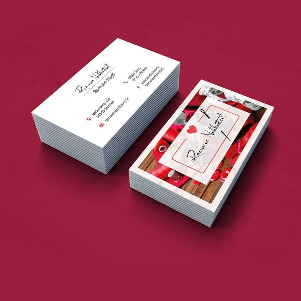 """alt=""""Logodesign Visitenkarten Geschäftsausstattung Ramonas Nahkasterl"""""""