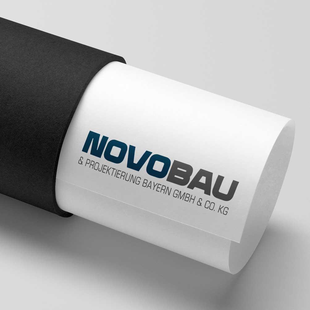 """alt=""""Logodesign für Baufirma Novobau"""""""