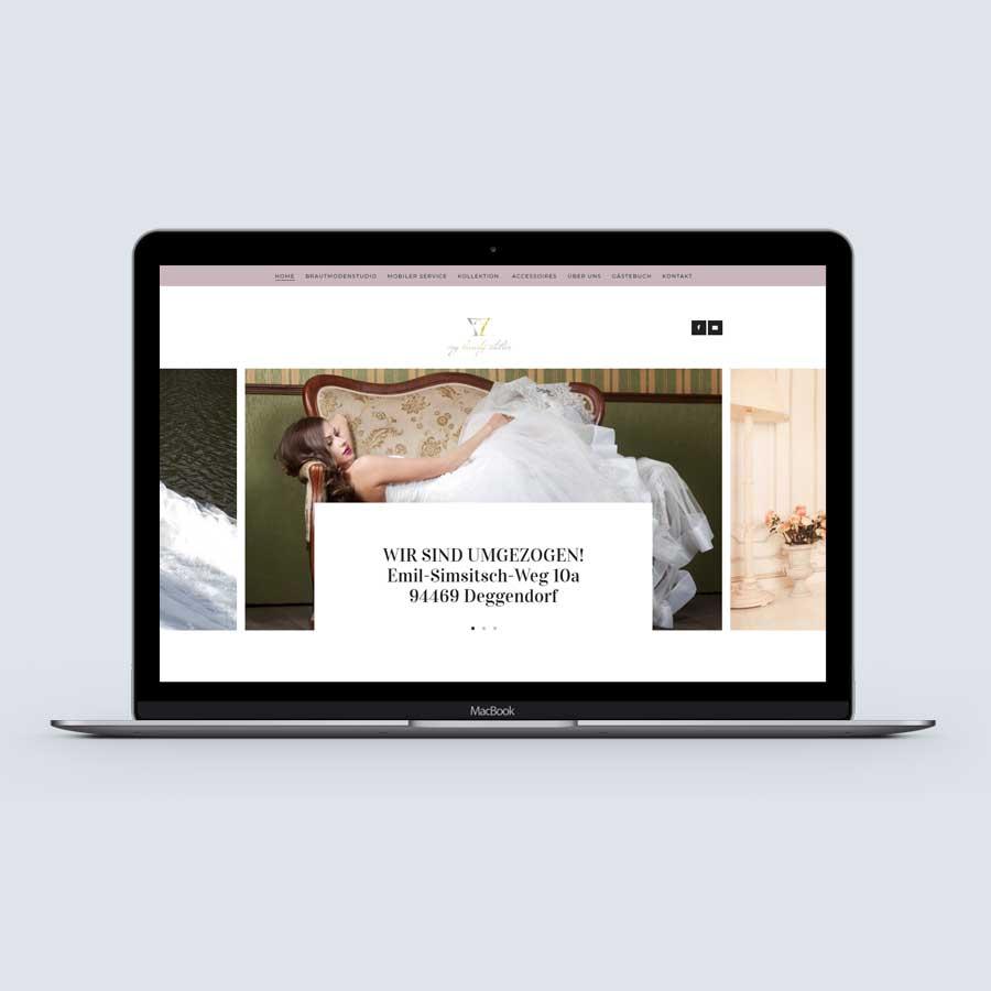 """alt=""""Preiswerte Website für Brautmodenstudio"""""""